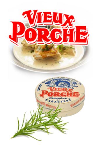 Poulet sauce camembert et estragon